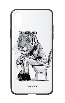 Cover Bicomponente Apple iPhone X/XS - Tigre al cesso