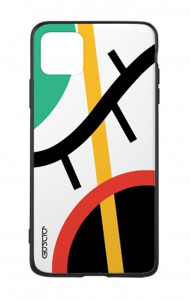Apple iPh11 PRO MAX WHT Two-Component Cover - White Abstract