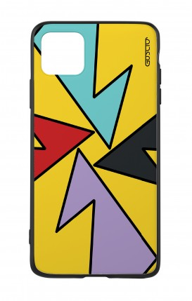Apple iPh11 PRO MAX WHT Two-Component Cover - Yellow Abstract with shapes