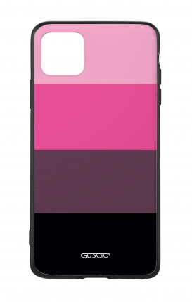 Apple iPh11 PRO MAX WHT Two-Component Cover - Pink Stripes