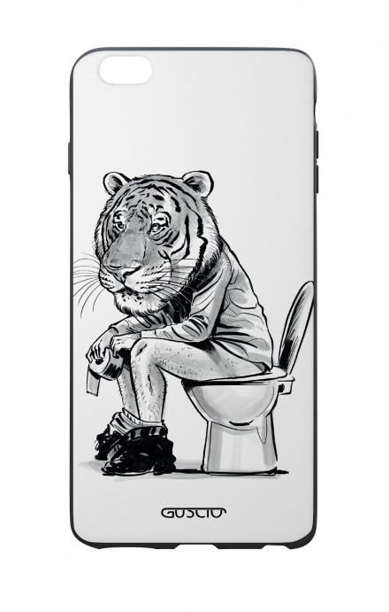 Cover Bicomponente Apple iPhone 7/8 Plus - Tigre al cesso