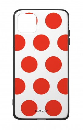 Apple iPh11 PRO MAX WHT Two-Component Cover - Red Polka dot