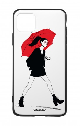 Apple iPh11 PRO MAX WHT Two-Component Cover - Red Umbrella