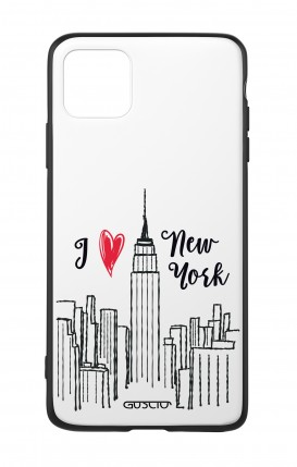 Apple iPh11 PRO MAX WHT Two-Component Cover - I love NY