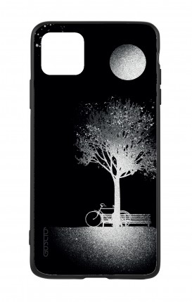 Apple iPh11 PRO MAX WHT Two-Component Cover - Moon and Tree