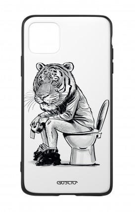 Apple iPh11 PRO MAX WHT Two-Component Cover - Tiger on WC