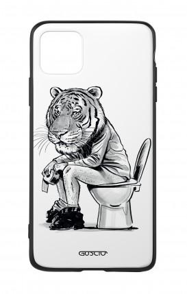 Cover Bicomponente Apple iPhone 11 PRO MAX - Tigre al cesso