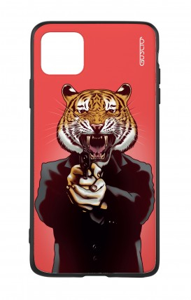 Apple iPh11 PRO MAX WHT Two-Component Cover - Tiger with Gun