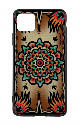 Apple iPh11 PRO MAX WHT Two-Component Cover - Old School Tattoo Frame