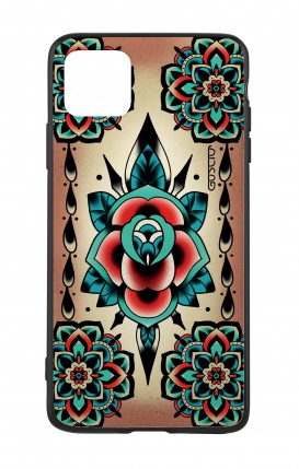 Apple iPh11 PRO MAX WHT Two-Component Cover - Old School Tattoo Rose