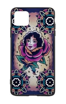 Apple iPh11 PRO MAX WHT Two-Component Cover - Old School Tattoo Rose& Girl