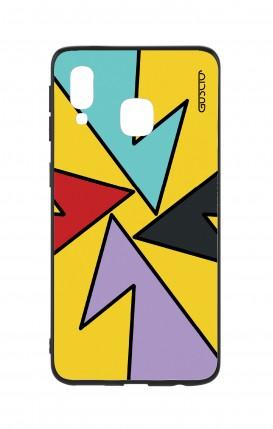 Cover Bicomponente Samsung A40 - Astratto giallo forme