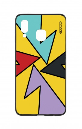 Samsung A40 WHT Two-Component Cover - Yellow Abstract with shapes