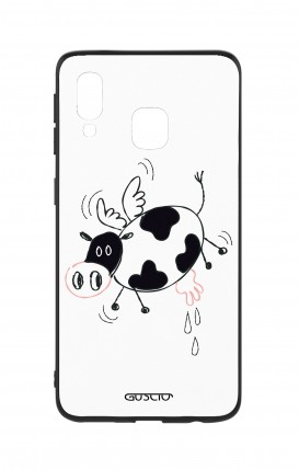 Samsung A40 WHT Two-Component Cover - Flying Cow