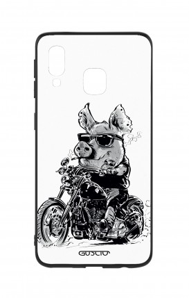 Samsung A40 WHT Two-Component Cover - Biker Pig