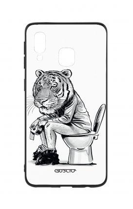 Cover Bicomponente Samsung A40 - Tigre al cesso