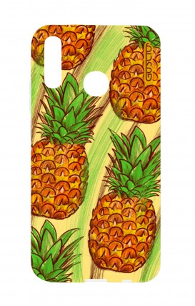 Cover Huawei P20Lite - Ananas Pattern fondo giallo