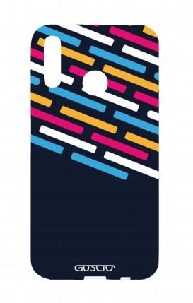 Cover Huawei P20Lite - Righe su fondo Blu