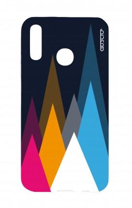 Cover Huawei P20Lite - Cime su fondo Blu