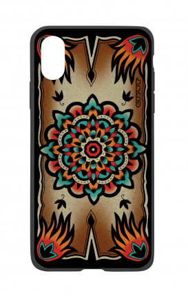 Cover Bicomponente Apple iPhone X/XS  - Old school Tattoo frame