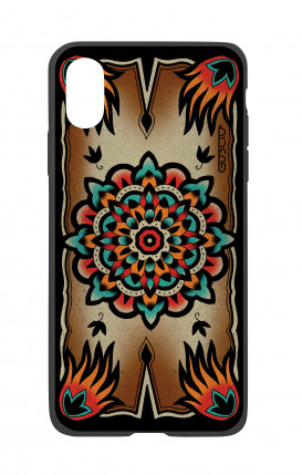 Apple iPhone X White Two-Component Cover - Old School Tattoo Frame