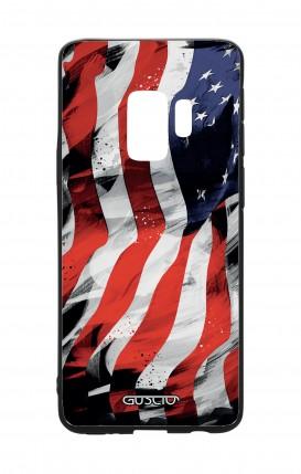Cover Bicomponente Samsung S9 - Bandiera americana