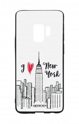 Samsung S9 WHT Two-Component Cover - I love NY