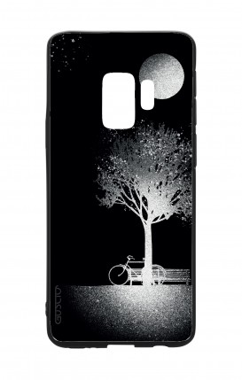 Samsung S9 WHT Two-Component Cover - Moon and Tree