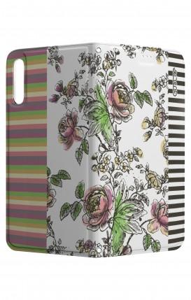 Cover STAND HUAWEI P20 - fiori e righe