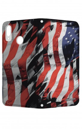 Cover STAND Huawei P20Lite CStyle - Used America Flag