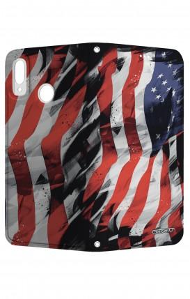 STAND HUAWEI P20Lite - Bandiera americana