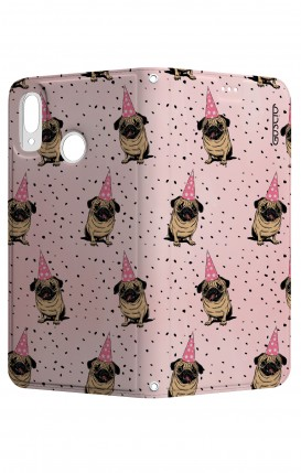 Cover STAND Huawei P20Lite CStyle - Pink Pug Pattern