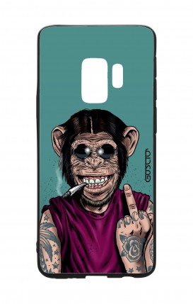 Samsung S9 WHT Two-Component Cover - Monkey's always Happy