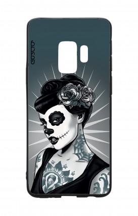 Cover Bicomponente Samsung S9 - Calavera bianco e nero