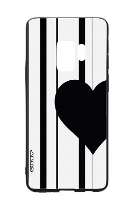 Samsung S9 WHT Two-Component Cover - Half Heart