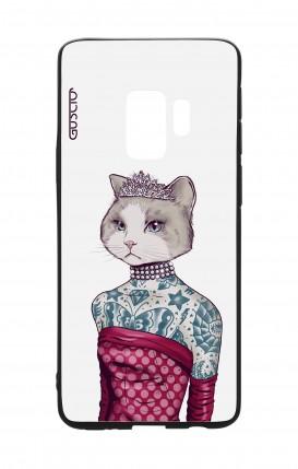 Cover Bicomponente Samsung S9 - Gattina principessa bianco