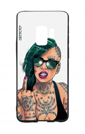 Samsung S9 WHT Two-Component Cover - WHT Girl in Green