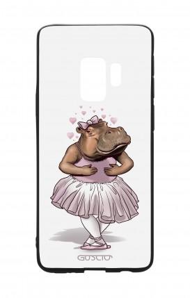 Cover Bicomponente Samsung S9 - Ippopotamo ballerina bianco