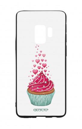 Cover Bicomponente Samsung S9 - Dolcetto e cuoricini bianco