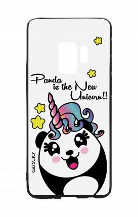 Cover Bicomponente Samsung S9 - Pandacorno trasperente