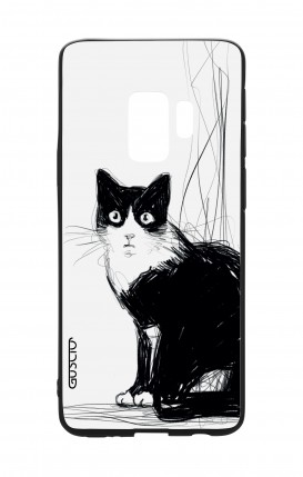 Samsung S9 WHT Two-Component Cover - B&W CAT