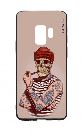 Samsung S9 WHT Two-Component Cover - Skull Sailor with Red Cup