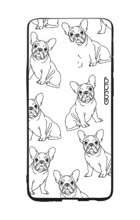Samsung S9 WHT Two-Component Cover - French Bulldog Pattern