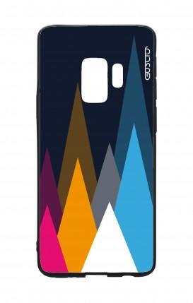 Cover Bicomponente Samsung S9 - Cime su fondo Blu