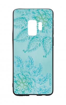 Cover Bicomponente Samsung S9 - Mandala azzurro