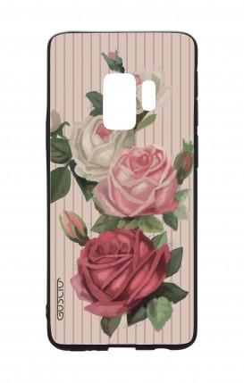 Cover Bicomponente Samsung S9 - Rose e righe