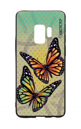 Samsung S9 WHT Two-Component Cover - Polka dot and butterflies