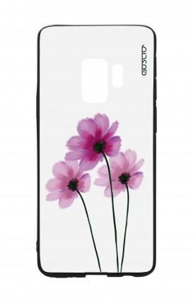 Cover Bicomponente Samsung S9 - Fiori su bianco