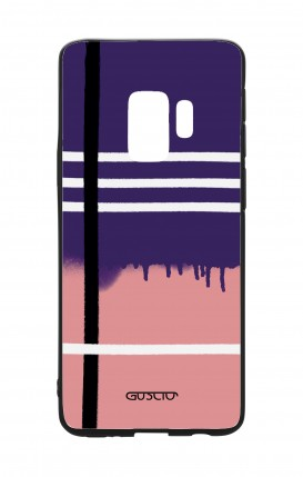 Cover Bicomponente Samsung S9 - Fantasia rosa e viola