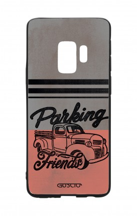 Samsung S9 WHT Two-Component Cover - Parking Friends
